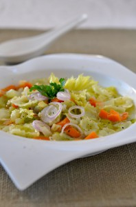 Ravioles De Roman au bouillon de legumes - DETOX.rz