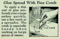 comb-as-glue-spreader