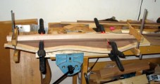 Gluing braces to a back