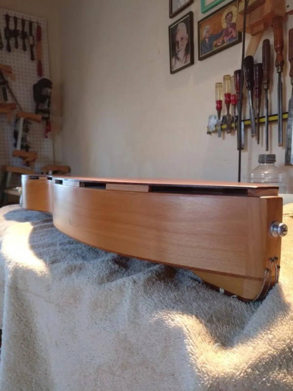 Galax back added to a dulcimer.
