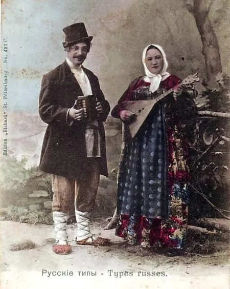 Balalaika and one row melodeon
