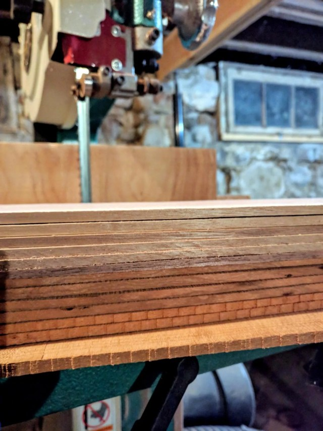 Resawing wood for dulcimers