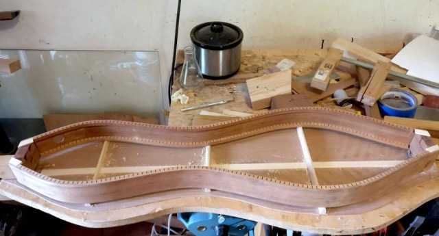 Fitting the back to a dulcimer.