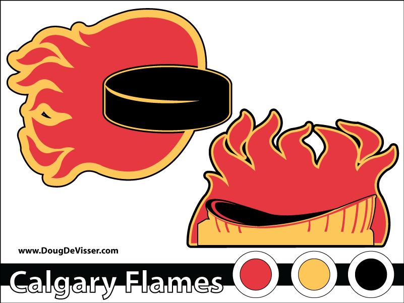 2010 NHL rebranding - Calgary Flames