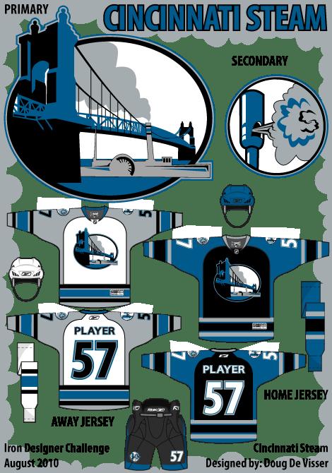 Cincinnati Steam logo and uniform concepts - August 2010