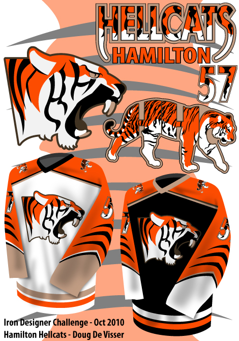 Hamilton Hellcats logo and uniform concepts - September 2010