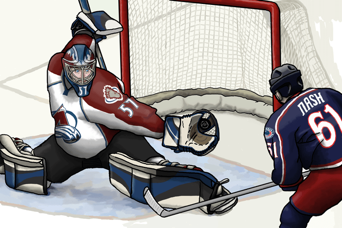 """""""When I grow up."""" series - Patrick Roy - 2008 - digital painting"""
