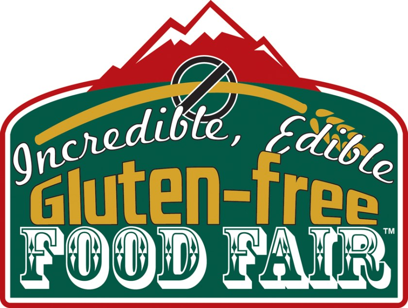 The logo I designed for the Colorado Sprue Association's Incredible, Edible Gluten-Free Food Fair. It has been used from 2012 to the present.