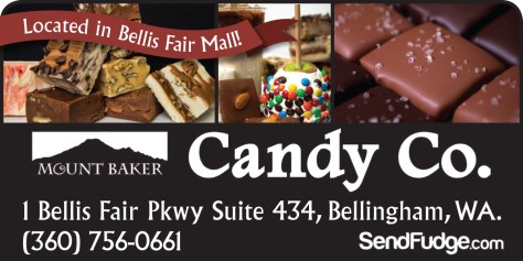 Mount Baker Candy Co. advertisement that ran in The Northern Light on 2014 May 3.