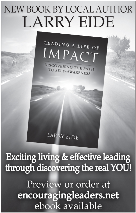 "An advertisement for Larry Eide's ""Leading a Life of Impact"", which ran in The Northern Light on 2014 April 10."