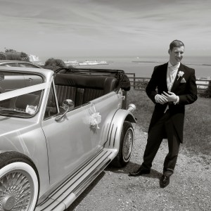 The Car! The wedding of James and Laura Roushas, Dover, Kent.