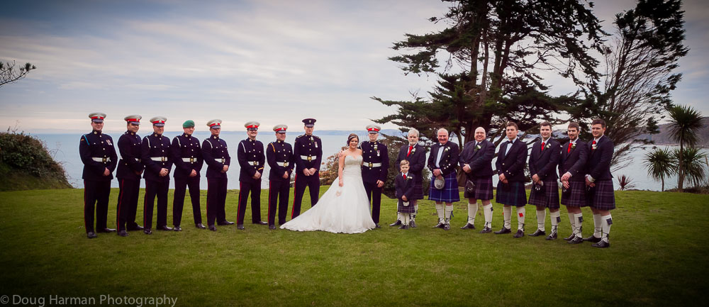 A stunning location at Polhawn Fort for Dave and Emma's wedding.