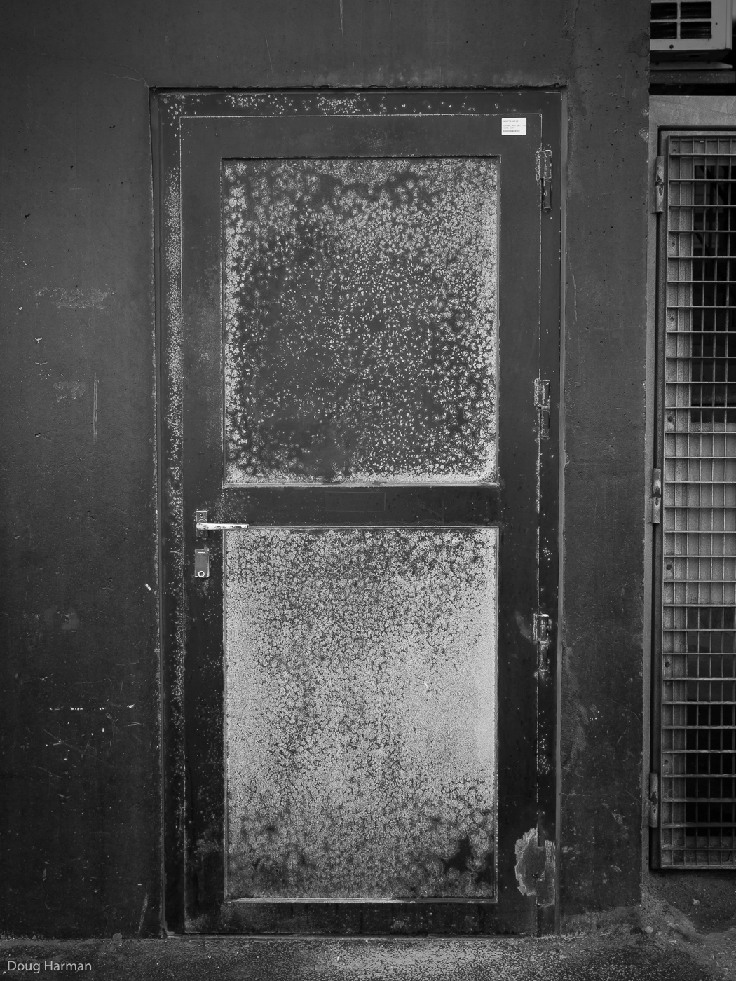 Metal Door. One of the doors photographed as part of my Doorways project, in Dunkirk, France.