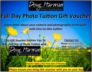 Doug Harman Photography offers Photo Tuition Full Day Gift Vouchers, buy yours today!