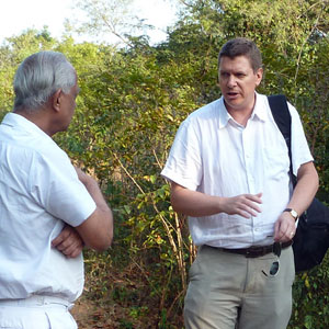 Doug King explains sustainability to a client