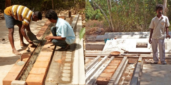 Making a beam and block floor Sharanam style.