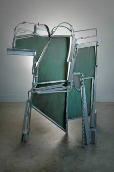 Poem for Gaudi, 2011–2012. Galvanized steel and iron, patinated brass 54 x 47 x 23 in.