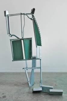 Dream for Dali, 2012. Galvanized steel and iron, patinated brass 64 x 42 x 23 in.