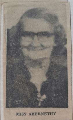 Miss Bertha Abernethy