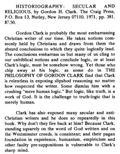 ghc review 19; historiography, secular and religious, review, blue banner faith and life, vol 28, jan-mar, 1973, no. 1, p. 134