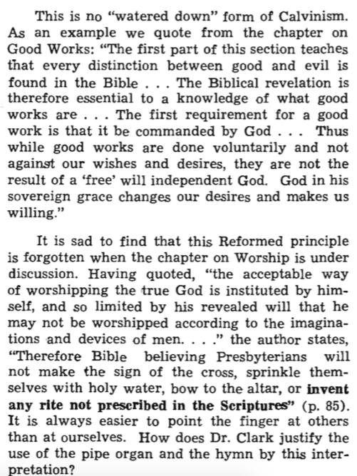 ghc review 8; what presbyterians believe, review, blue banner faith and life, vol 12, jan-mar, 1957, no. 1, p. 109. c