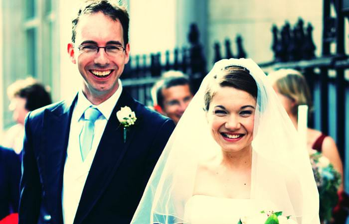 Wedding Photographer - Outside Marriott Hotel, London