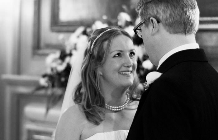 Wedding Photograph of Beth and Alex at Brewers Hall, London