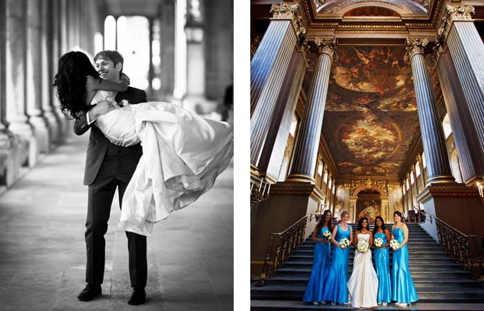 Wedding Photography - Painted Hall, Royal Naval College, Greenwich - Bride and Groom