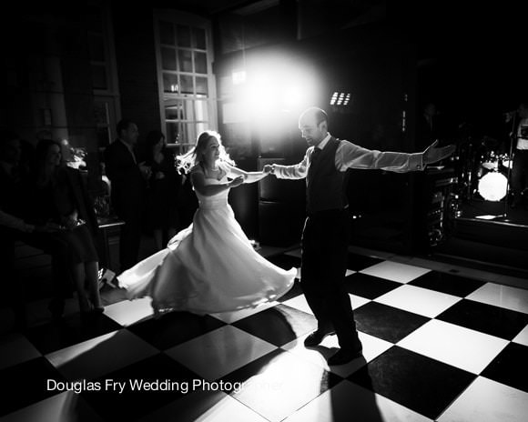 Wedding Photograph Dancing black and white Cannizaro Hotel