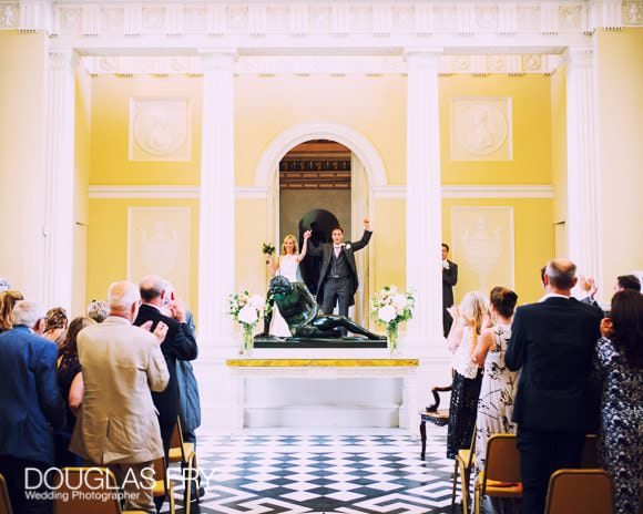 At the end of the wedding ceremony - at Syon House