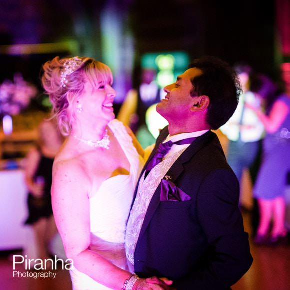 Bride and groom dancing at Stationer's Hall
