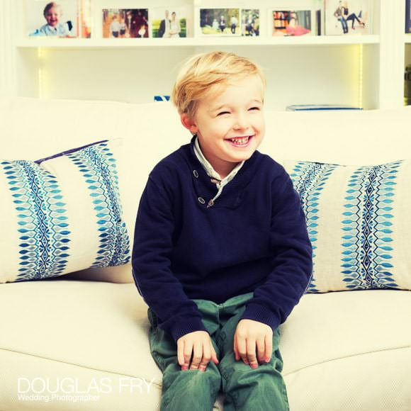 Son photographed in London home