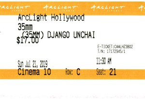 Django Unchained - 35mm - ArcLight Cinemas - Movie Ticket - CINEMA 10