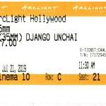 Django Unchained - 35mm - ArcLight Cinemas - Movie Ticket - CINEMA 10