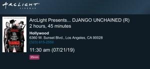 ArcLight Cinemas Presents - Django Unchained (screenshot)