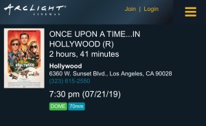 ArcLight Cinemas Presents - Once Upon a Time... in Hollywood (screenshot)