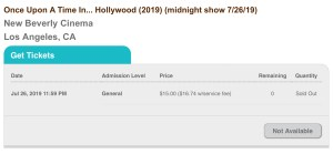 Once Upon A Time In... Hollywood - Midnight - SOLD OUT (screenshot)