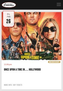 New Beverly Cinema - Once Upon a Time in Hollywood - Midnight - July 26 - More Info / Buy Tickets