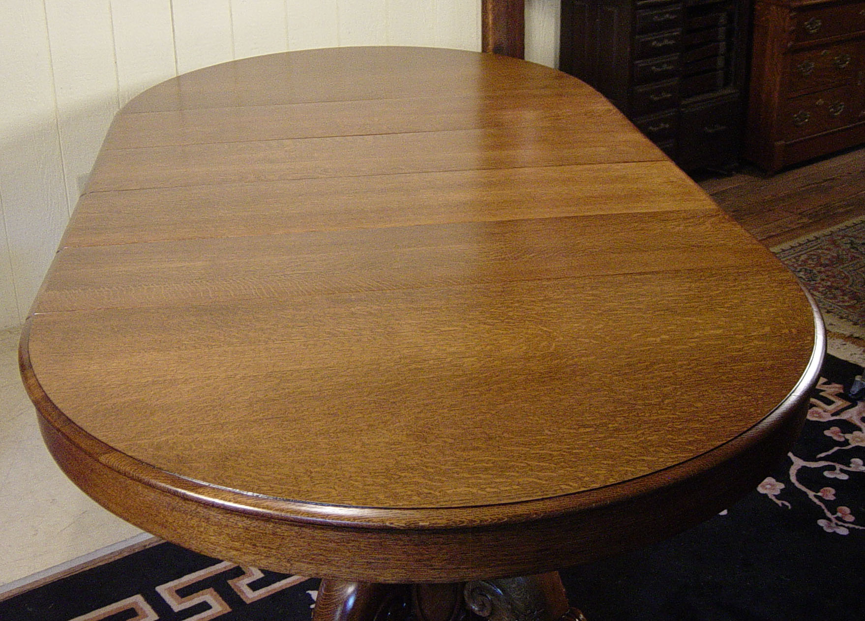 52 Quot Round Victorian Oak Dining Room Table With 4 Leaves