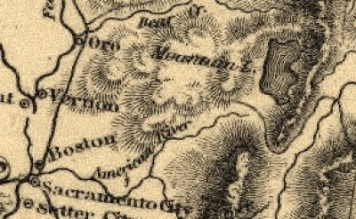 """1850 Corps of Topographical  Engineers Map showing a small Lake Tahoe as """"Mountain Lake"""""""