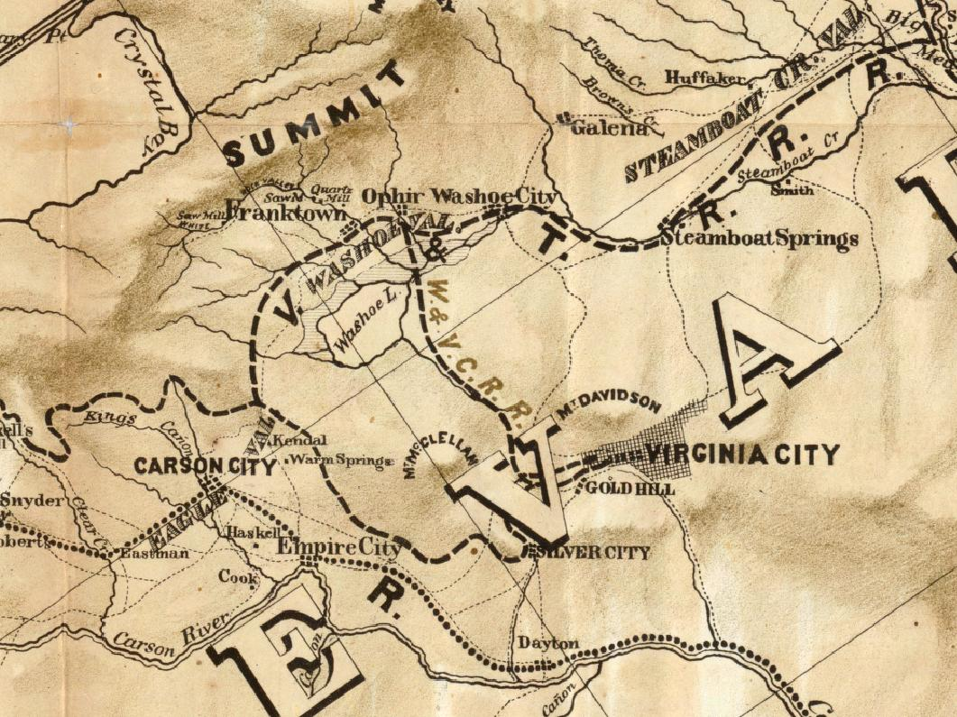 Railroad Map Folsom To Nevada Via Lake Tahoe