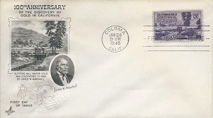 Gold Discovery  Centennial Stamp 1948