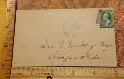 Georgetown to Georgia Slide envelope.
