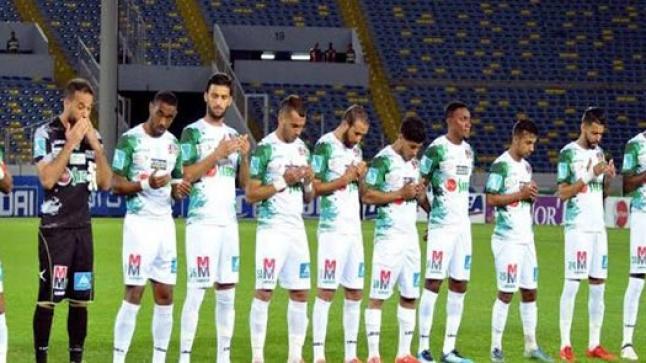 فريق الرجاء الرياضي يفوز على ضيفه فريق بيراميدز المصري بثنائية نظيفة