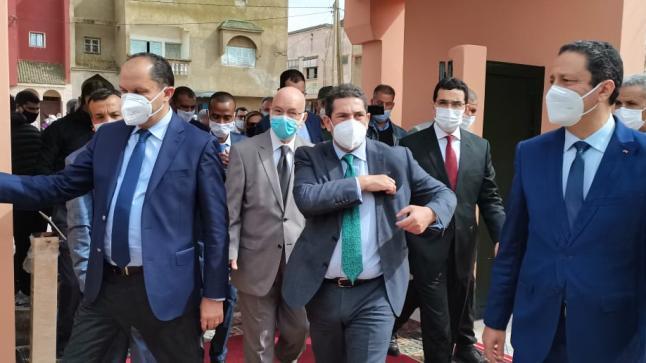 وزير التربية الوطنية سعيد امزازي باقليم الجديدة في إطار الزيارات الميدانية الرامية إلى تتبع تنزبل أحكام القانون الإطار 51.17