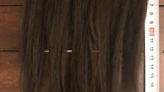 20cmの長さでヘアドネーション