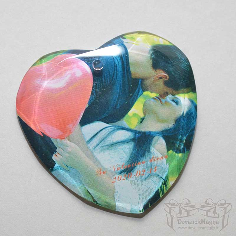 nuotrauka ant stiklo, dovana Valentino dienai, Širdelė