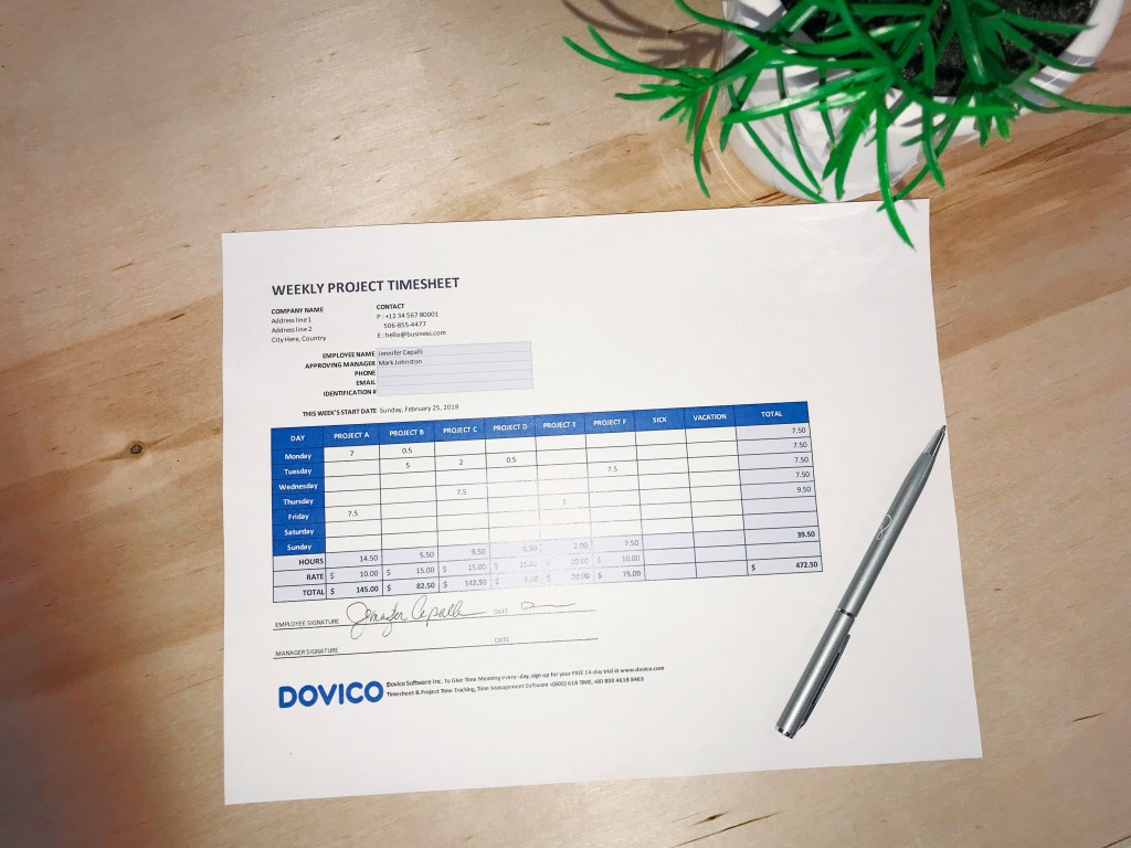 employee timesheet software vs free excel timesheets dovico blog