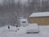camper in winter