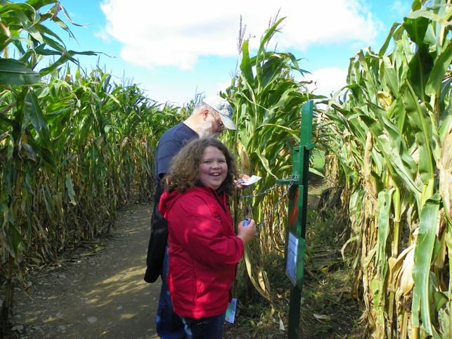 Hannah and Paul in the corn maze